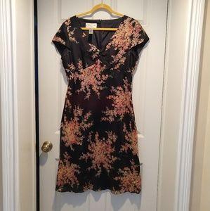 100% Silk Floral Dress